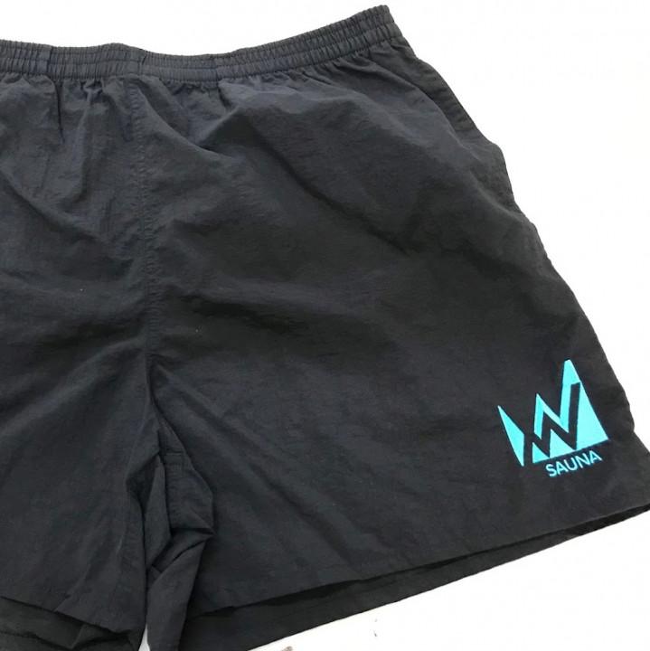 ハーフパンツ<br>【ロゴ刺繍】<br>左脚前面 左裾・W6cm